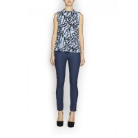 Last poet print top, Camilla & Marc, $140 http://www.camillaandmarc.com/last-poet-print-top-dusty-blue-zebra.html