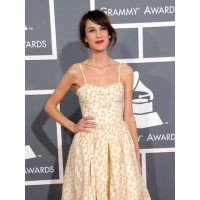 Alexa Chung as Laura Ingalls from Little House on the Prairie... Actually it's Valentino Red. Via hollywoodreporter.com
