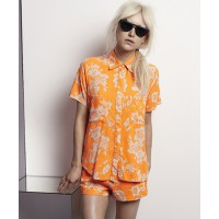 Shakuhachi Fluro Brocade Short Sleeve shirt, $220 and Fluro Brocade Tailored Short, $150, source: shakuhachi.net