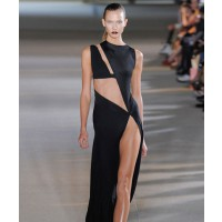 Karlie Kloss modeling Anthony Vaccarello Spring 2013. Source: style.com