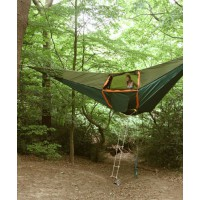 A tent/hammock by Tentsile http://www.tentsile.com/gallery.html