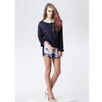 "Top over collared shirt. Finders Keepers ""Bright lights knit"", $99.95 http://thefashionbunker.com/Products/Shop%20By%20Style/knits/bright_lights_knit-MIDNIGHT_BLUE__FX120910K-MB.aspx"
