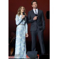 Sarah Jessica Parker in Erdem SS2013 with Gerard Butler at the Nobel Peace Prize Concert in Oslo last November.