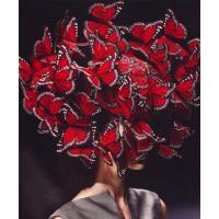 Hayley's hat, Alexander McQueen butterfly hat http://www.trendhunter.com/trends/alexander-mcqueen-butterfly-hat