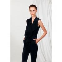 "Carla Zampatti ""Onyx Crepe Wave Collar Jumpsuit"", $699, source: carlazampatti.com.au"