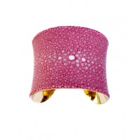Pink Polished Stingray Center Cut Gold Lined Cuff - by UNEARTHED, http://www.etsy.com/listing/74208085/pink-polished-stingray-center-cut-gold