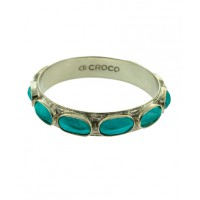 Di Croco silver and aqua hornback bangle, http://www.dicroco.com/products.asp?product=367