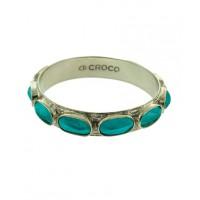Di Croco silver and aqua hornback bangle, http://www.dicroco.com/products.asp?product=367