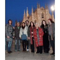 The Missoni clan including from left: Vittorio, his sons Ottavio and Marco, founder Ottavio Missoni, Margherita Missoni, Eugenio Amos, Angela Missoni, Rosita Missoni, Jennifer Missoni (Luca's daughter) and Luca Missoni. www.corriere.it