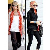 Nicole shows us how to rock a scarf two ways. Source: celebritysentry.com