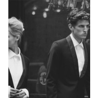 J. Lindeberg Rick Fresco Tux $690 and Downey Tux Shirt $249 Source: Photographer Peter Lindbergh