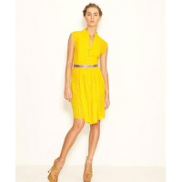 Go short if you don't want to be swathed in yellow...Pin Tuck Dress, sleevless by Anu. http://www.byanu.com/site/shop/#showproduct
