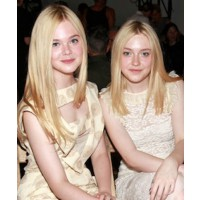 Fanning Sisters front row at Rodarte source:Belfast Telegraph credit:Cover Media http://www.belfasttelegraph.co.uk/woman/fashion-beauty/fanning-sisters-inspire-galliano-line-16183159.html