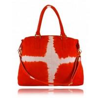 Travelling Mama - Global Traveller, Tangerine Tie Dye bag, $490, Rachel Ruddick. http://rachaelruddick.com/index.php/handbags/global-traveller-tie-dye-tangerine.html