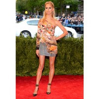 Karolina Kurkova in a show stopping dress at the Met Gala 2013 http://nz.lifestyle.yahoo.com/famous/galleries/photo/-/17045641/2013-met-gala-punk-couture/17045651/ credit: Getty