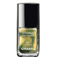 Achieve the partial metallic look with Chanel Le Vernis Nail Colour in 531 Peridot. http://www.chanel.com/en_AU/fragrance-beauty/Makeup-Nail-colour-LE-VERNIS-113225?sku=125283