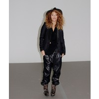 Beyonce looking stylish in comfort in leather track pants source: Miss Drea credit: Getty http://therealmissdrea.com/2013/04/06/fab-fashion-trend-to-try-leather-trousers-blazers-shopping-guide/#axzz2Zj97MyWz