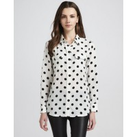 Signature Polka dot blouse, Equipment, $248 http://www.cusp.com/product.jsp?rte=%252Fcategory.jsp%253FitemId%253Dcat2360016%2526pageSize%253D30%2526No%253D0%2526refinements%253D&seoDesigner=Equipment&icid=&seoCategory=Equipment&parentId=cat2360016&eItemId