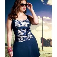 Elomi - Danube Tankini plus matching skirt - http://www.bravalingerie.com.au/lingerieitem/elomi-danube-ruched-tankini-navy_item.html?ref_cat_id=16