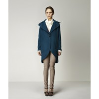 Edita Lapel Coat in Deep Teal, Misha Pullover in Ivory & Aniva Legging in Almond