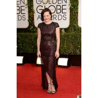 Elisabeth Moss in J. Mendel, Jennifer Meyer http://www.huffingtonpost.com/2014/01/12/golden-globes-red-carpet-2014_n_4499470.html