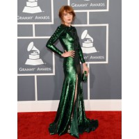 Florence Welch in Givenchy. Does this green suit her? Maybe she and Katy Perry should have swapped dresses in the toilets? Via hollywoodreporter.com