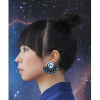 Solaris perspex earrings by Jennifer Loiselle