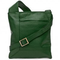Yes it's really leather> Egata Leather Cross Body Bag (green) Condura, Peter's of Kensington, $60 http://www.petersofkensington.com.au/Public/Condura-Egata-Leather-Cross-Body-Bag-Green.aspx