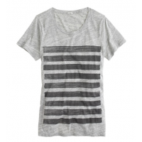 Bar striped tee, AUD $57.30 http://ad.doubleclick.net/ddm/clk/278094176;105347468;r?http://www.jcrew.com/womens_category/knitstees/shortsleevetees/PRDOVR~04325/04325.jsp?srcCode=BRLSMMissyConfidential&utm_source=BRLSMMissyConfidential&utm_medium=Display&u