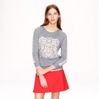 Embossed Floral Sweater, AUD $171.20 http://ad.doubleclick.net/ddm/clk/278081414;105280409;z?http://www.jcrew.com/womens_category/sweaters/Pullover/PRDOVR~09312/09312.jsp?srcCode=BRLSMMissyConfidential&utm_source=BRLSMMissyConfidential&utm_medium=Display&