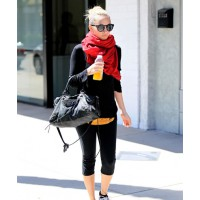 Nicole Richie http://www.posh24.com/photo/1206910/nicole_richie_red_scarf_gym_cl
