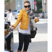 Nicole Richie http://www.dailymail.co.uk/tvshowbiz/article-2236696/Sweating-style-Nicole-Richie-leaves-star-studded-Tracey-Anderson-workout-studio-bright-yellow-designer-jacket.html