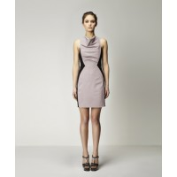 Hamburg Dress Taupe w Black