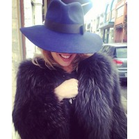 Just you're average walk to the post office! Loving my Watson X Watson Black Racoon fur coat!