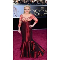 Jackie Weaver wearing Rana Salam. We love you Jackie but miss the bearded megaphone. Source: http://oscar.go.com/red-carpet/photos/85th/red-carpet/womens-fashion-20