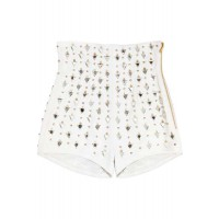Balmain Embellished High Rise Leather Shorts $2,165.38 AUD http://www.theoutnet.com/product/292153