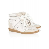Isabel Marant Betty Leather and Suede Wedge Sneakers $484.196 AUD http://www.net-a-porter.com/product/314589