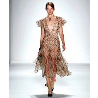 Zimmermann Tamer Tiger Chevron Dress $1100 http://www.zimmermannwear.com/the-latest-1/tamer-tiger-chevron-dress.html