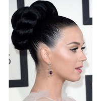Katy reminds us of Elizabeth Taylor somehow with this enormous braided bun. http://hollywoodlife.com/pics/2014-grammy-awards-style-grammys-hair-makeup/#!1/katy-perry-grammy-awards-2014/