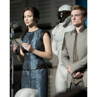 Katniss and Peeta do a speech on their victory tour http://www.moviefleece.com/wp-content/uploads/2013/04/Catching-Fire-2.jpg