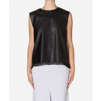 Carla Zampatti Raven Faux Leather Essential Top $399.00 http://www.carlazampatti.com.au/Shop/Shop_Garments/Tops/147037.0999/Raven-Faux-Leather-Essential-Top.html