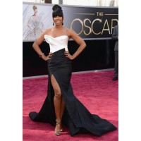 Kelly Rowland rocks the sweet Neenish tart look, previously perfected by Destiny's Child bandmate, Beyonce, at the Grammys. Source: http://oscar.go.com/red-carpet/photos/85th/red-carpet/womens-fashion-20