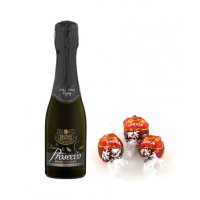 Brown Brothers Proseco, piccolo, $4.99 & Lindor balls $1 each. http://danmurphys.com.au/product/DM_772728/brown-brothers-prosecco-piccolo-200ml