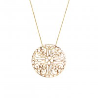 Lace necklace in gold by Gag & Lou