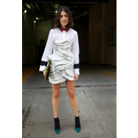 Leandra Medine of The Man Repeller http://www.manrepeller.com/2013/11/make-an-old-dress-new-vol-ii.html