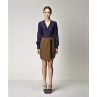 Leonid Shirt in Eclipse with Beslan Skirt in Copper w Black