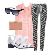 Look 1: Pastel & Print