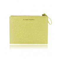 Rachael Ruddick Pouch Citrine Ostrich Effect $190.00 http://rachaelruddick.com/index.php/new-in/rr-pouch-607.html