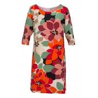Add some colour with this pretty spring patterned shift. Marimeko Memory Dress, Silk Diva, $169.95 http://www.birdsnest.com.au/brands/silk-diva/34431-marimeko-memory-dress