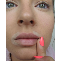 Use a pigmented or neutral concealer around the mouth to brighten up the area.